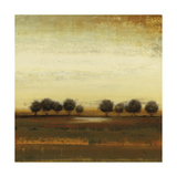 Rusted Treeline Print by Lisa Ridgers