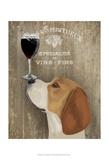 Dog Au Vin Beagle Plakat af Fab Funky