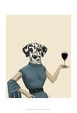 Dalmatian Wine Snob Posters af Fab Funky