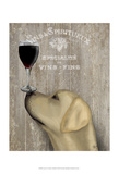 Dog Au Vin Yellow Labrador Art by  Fab Funky