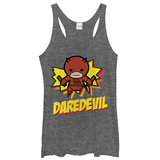 Juniors Tank Top: Daredevil- Kamaii Hero Womens Tank Tops