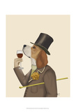 Beagle Wine Snob Prints by  Fab Funky