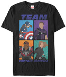 Captain America Civil War- Team Captain America Grid T-shirts