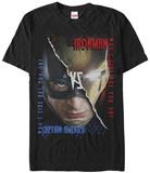 Captain America Civil War- Face Off T-Shirt