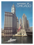 Chicago, Illinois - American Airlines Posters by  Pacifica Island Art