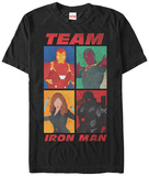 Captain America Civil War- Team Iron Man Grid Shirts