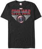 Captain America Civil War- Shield Logo T-Shirt