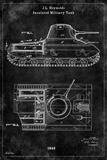 Tank1 Black Print by Tina Carlson