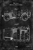 Jeep1 Black Prints by Tina Carlson