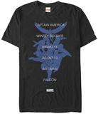 Captain America Civil War- Captian Team Roll Call T-Shirt