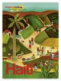 Haiti - Haitian Village - American Airlines Endless Summer Affischer av Paul Degen