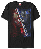 Captain America Civil War- Red Vs. Blue T-Shirt