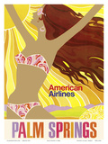 Palm Springs - California Girl - American Airlines Prints by  Pacifica Island Art