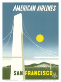 San Francisco California - American Airlines Posters by Edward McKnight Kauffer
