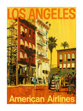 Los Angeles - American Airlines - Hollywood California Movie Set Premium Giclee Print by Van Kaufman