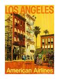 Los Angeles - American Airlines - Hollywood California Movie Set Premium Giclee Print by Van Kaufman