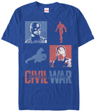 Captain America Civil War- Opposing Leaders T-Shirt