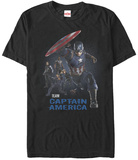 Captain America Civil War- Team Cap At The Ready T-Shirt