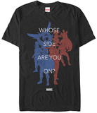 Captain America Civil War- Choose A Side Shirts