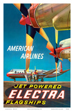 American Airlines - Jet Powered Electra Flagships - Lockheed L-188s Posters by Walter Bomar