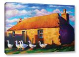 Scottish Stone Cottage Highlands Gallery Wrapped Canvas Gallery Wrapped Canvas