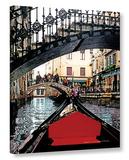 Gondola Under Bridge Gallery Wrapped Canvas Gallery Wrapped Canvas