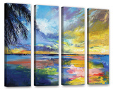 Islamoradana Sunset 4 Piece Gallery Wrapped Canvas Set Gallery Wrapped Canvas Set