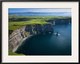 Aerial View of the Cliffs of Moher on the West Coast of Ireland Framed Photographic Print by Chris Hill