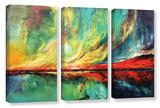 Aurora 3 Piece Gallery Wrapped Canvas Set Gallery Wrapped Canvas Set