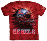 University Of Mississippi- Breakthrough Ole Miss Helmet T-Shirt