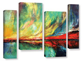 Aurora 4 Piece Gallery Wrapped Canvas Set Gallery Wrapped Canvas Set