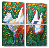 Chickens 4 Piece Gallery Wrapped Canvas Set Gallery Wrapped Canvas Set