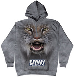 Hoodie: University Of New Hampshire- Big Face Wildcat Pullover Hoodie