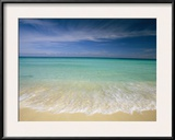 Clear Blue Water and Wispy Clouds Along the Beach at Cancun Framed Photographic Print by Michael Melford