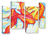Swirling Koi 4 Piece Gallery Wrapped Canvas Set Gallery Wrapped Canvas Set