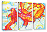 Swirling Koi 3 Piece Gallery Wrapped Canvas Set Gallery Wrapped Canvas Set