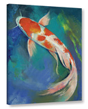 Kohaku Butterfly Koi Gallery Wrapped Canvas Stretched Canvas Print