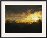 Sunset in Rock Creek Park with the Washington Cathedral in Distance Framed Photographic Print by David Evans