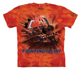 Youth: University Of Illinois- Breakthrough Fighting Illini Helmet T-shirts