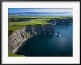 Chris Hill - Aerial View of the Cliffs of Moher on the West Coast of Ireland Zarámovaná reprodukce fotografie