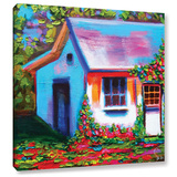 Provence Rose Cottage Gallery Wrapped Canvas Gallery Wrapped Canvas