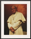 Portrait of Pope John Paul II, Rome, Italy Framed Photographic Print by James L. Stanfield