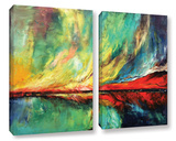 Aurora 2 Piece Gallery Wrapped Canvas Set Gallery Wrapped Canvas Set