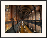 The Long Room in the Old Library at Trinity College in Dublin Framed Photographic Print by Chris Hill