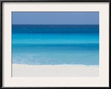 Shades of Blue Color the Beachfront Waters in Cancun, Mexico Framed Photographic Print by Mike Theiss