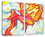 Swirling Koi 2 Piece Gallery Wrapped Canvas Set Gallery Wrapped Canvas Set