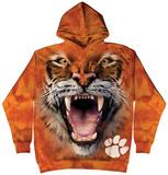 Hoodie: Clemson University- Big Face Tiger Pullover Hoodie