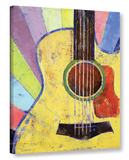 Sunrise Guitar Gallery Wrapped Canvas Stretched Canvas Print