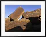 Petroglyphs Near Little Colorado River, Arizona Gerahmter Fotografie-Druck von David Edwards