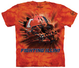 University Of Illinois- Breakthrough Fighting Illini Helmet T-Shirt